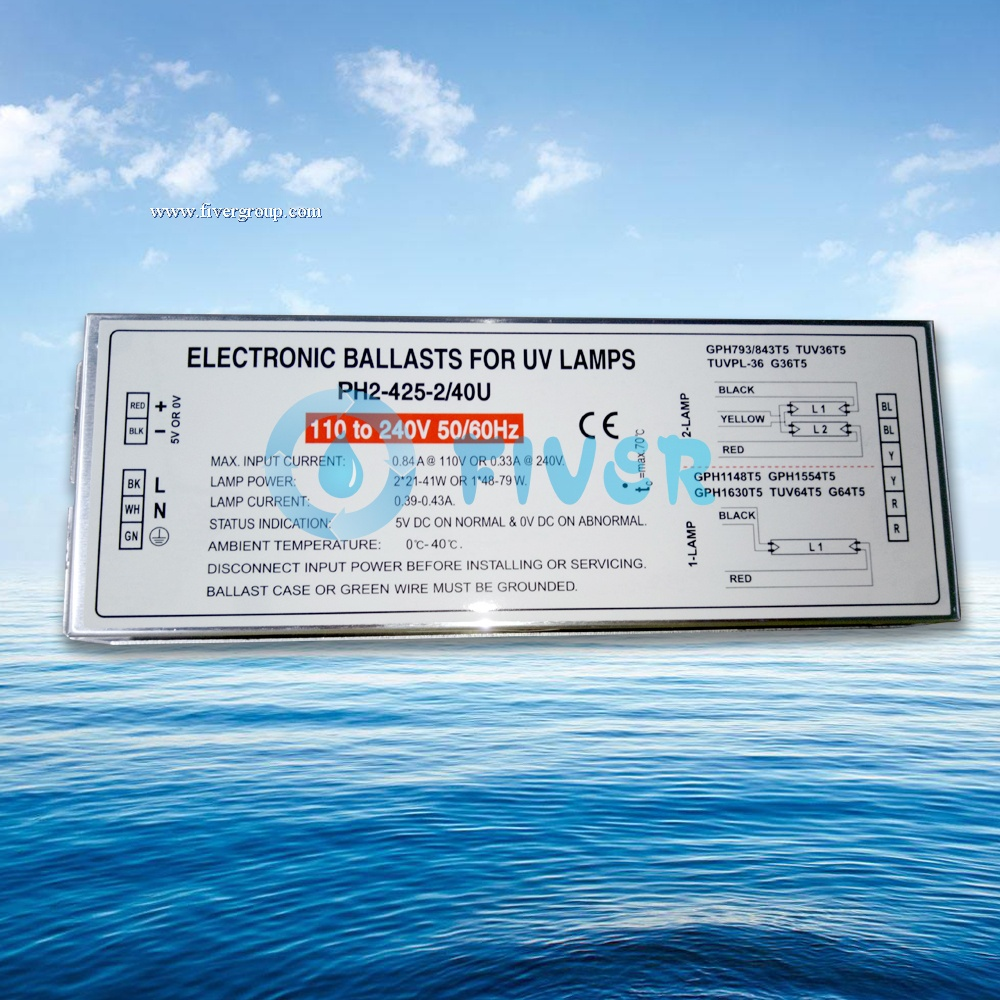 2x40W 425mA Potted UV Electronic Ballast