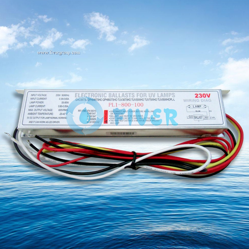 100W 800mA Potted UV Electronic Ballast from China Manufacture
