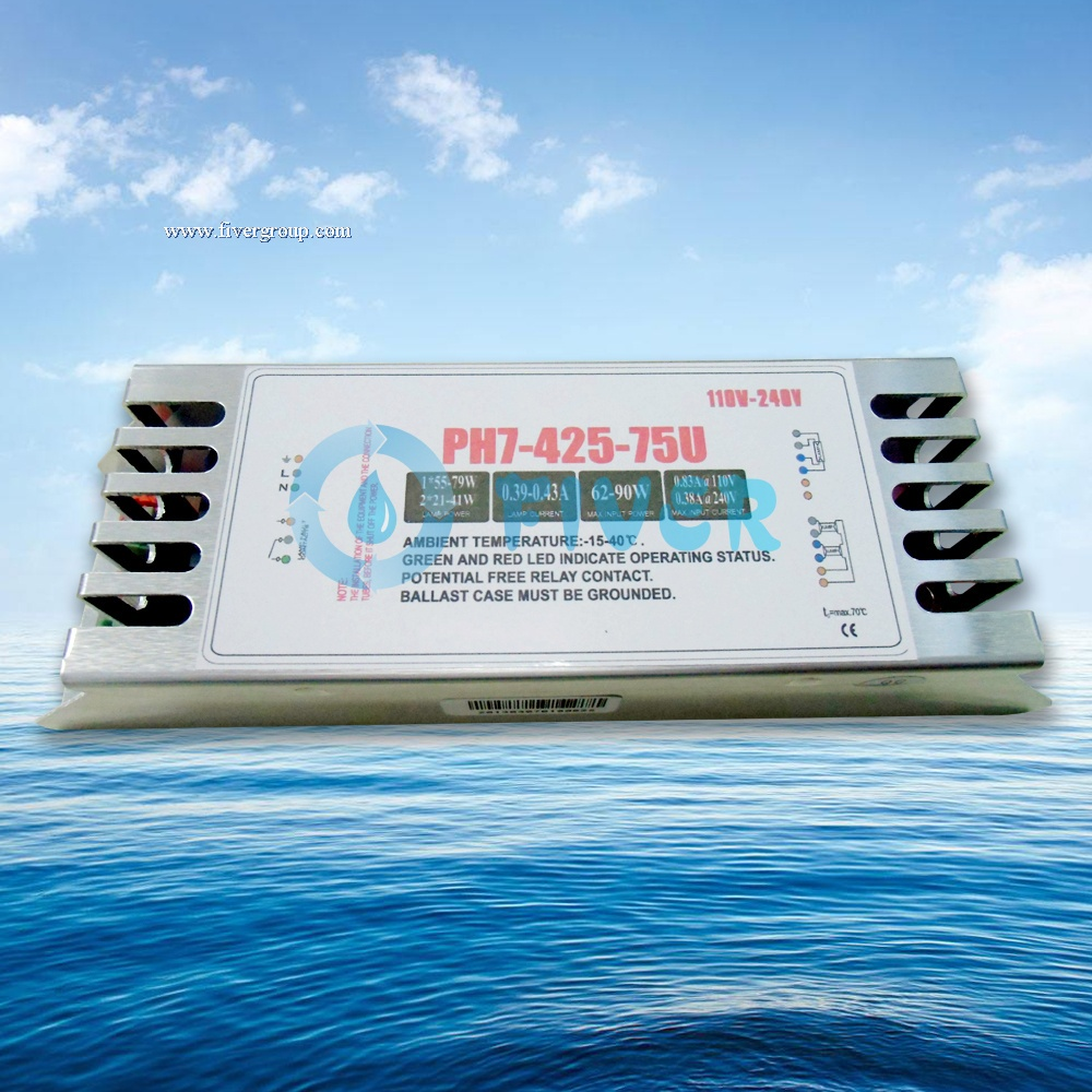 China Best 75W 425mA UV Electronic Ballast